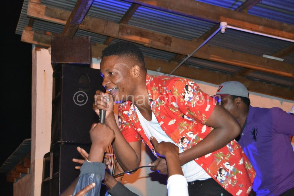 Sir Patricks wows fans during a recent show in Blantyre