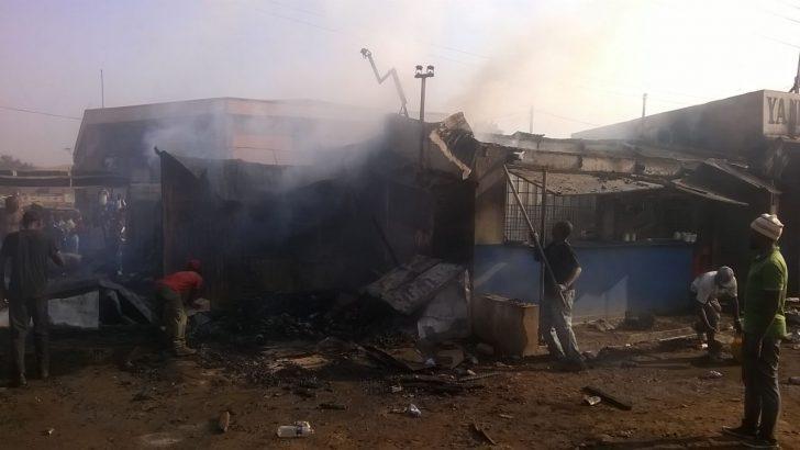 Fire guts shops in Lilongwe