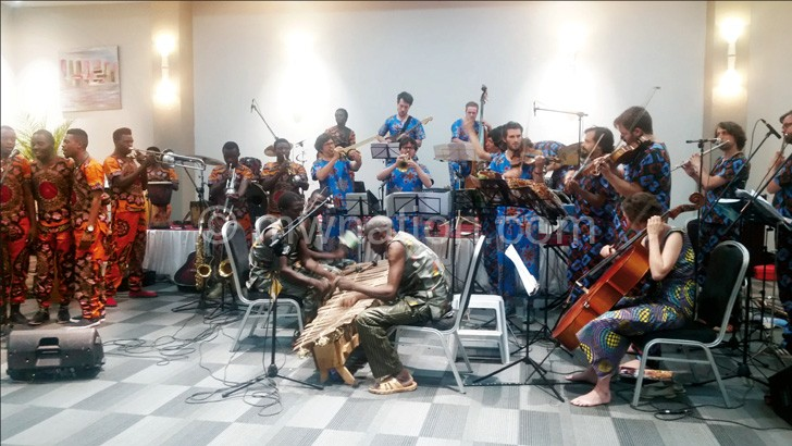 The three groups performing at Grand Palace Hotel in Mzuzu