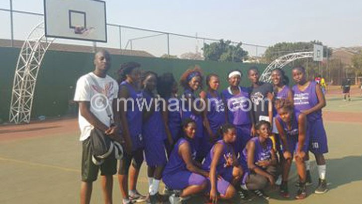 Bravehearts ladies team captured before the final match in Harare
