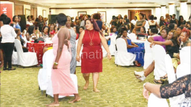 Women in the midst of fun at a previous Sunbird ladies' night