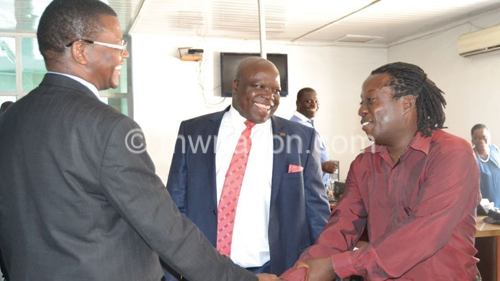 Information PS Justin Saidi introduce Sports Ediotor garry Chirwa to Ndau