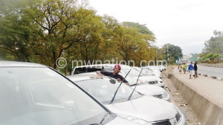 Second hand vehicles are a common sight in Malawi