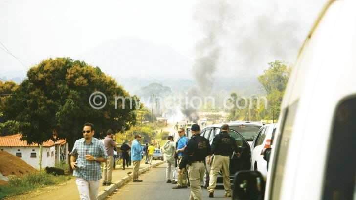 The students blocked the M1 Road in Zomba when US Second Lady Jill Biden visited Malawi in July