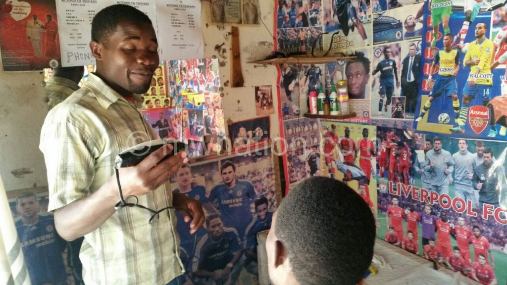 Smallscale business such as barber shops have been affected by power outages