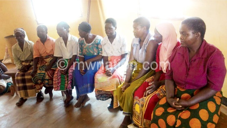 Some of the widows that took part in the training