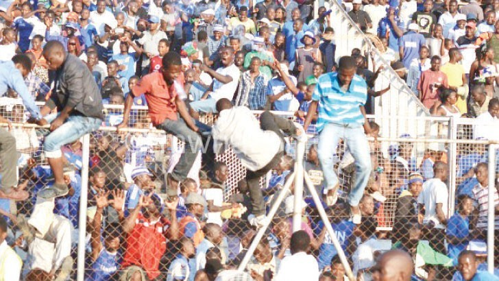 Wanderers supporters invading the picth