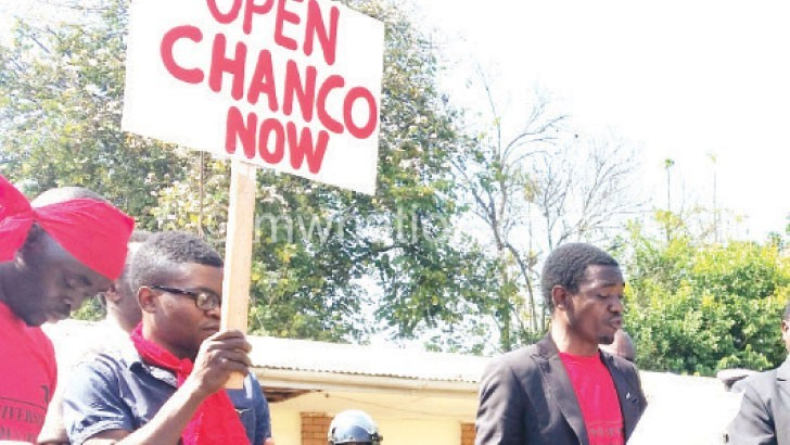 Chanco students participated in demonstrations against the fee hike