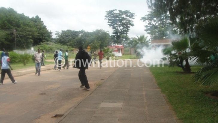 Flashback: Mzuni students during a strike. This time around it is the turn of staff to protest
