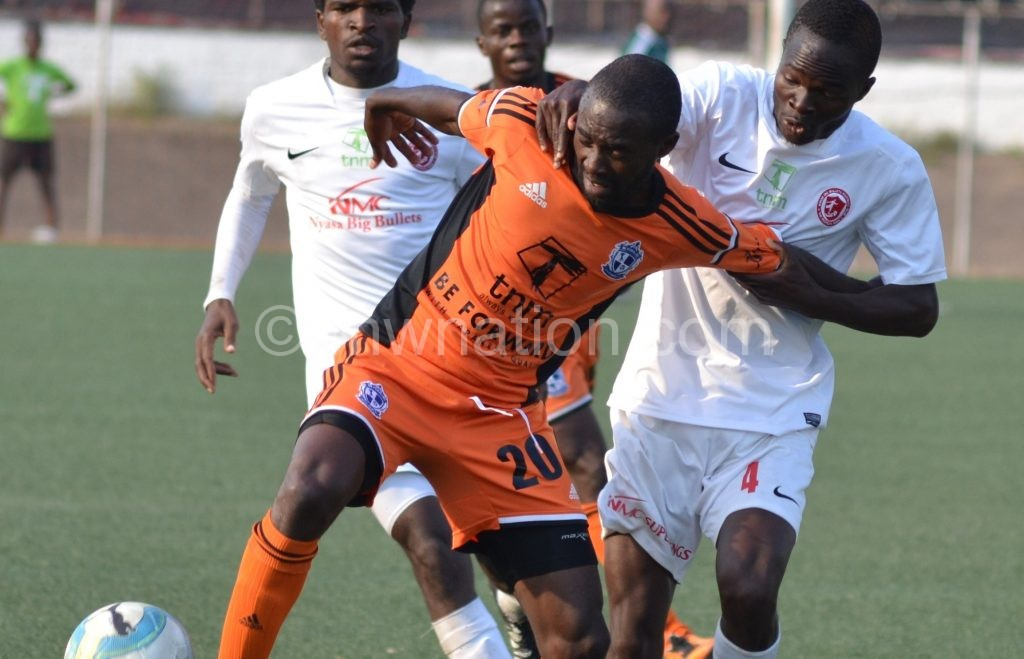 Set to face his former team: Rafiq Namwera (with the ball)
