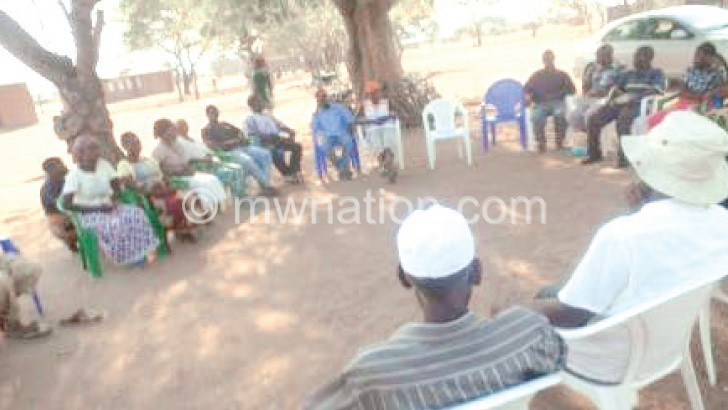 Nankumba communities discuss the challenges they face in the area