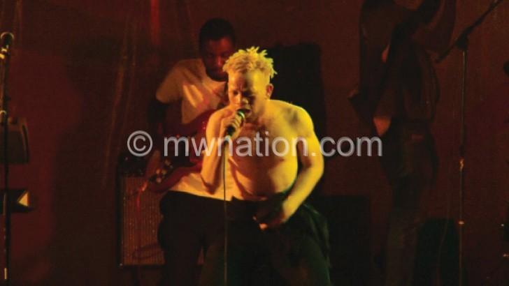 Orange Man leading the performance at LoS
