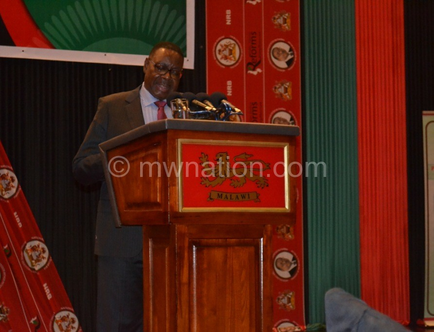 President Mutharika at the launch