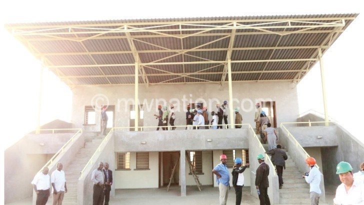 Ntchisi youths want a modern stadium like this one which was built in Kasungu