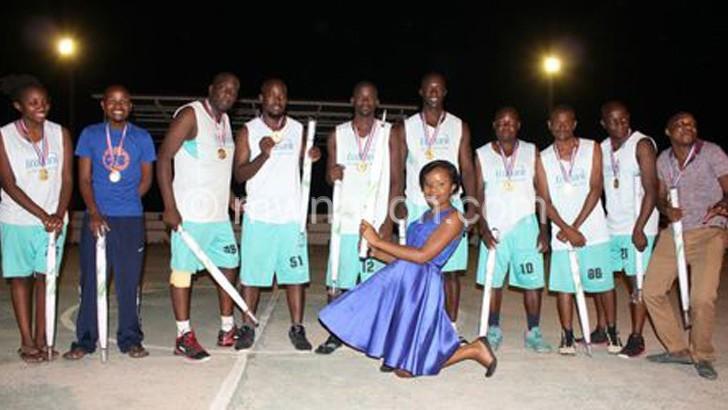 Ecobank basketball team celebrates victory