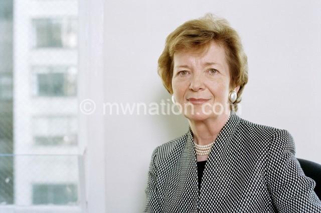 Former Irish President Dr Mary Robinson