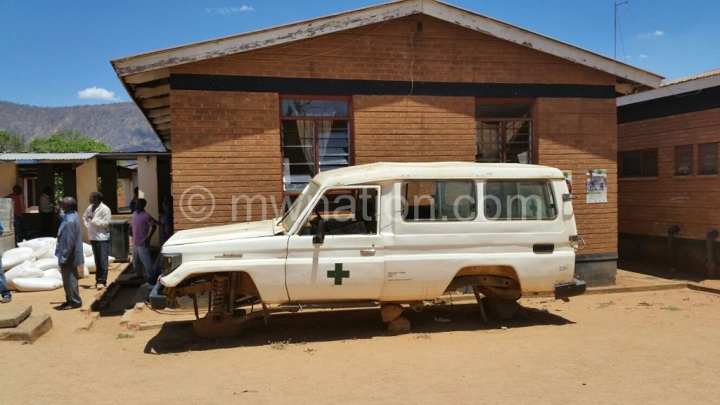 A grounded ambulance outside Rumphi District Hospital in this file photo