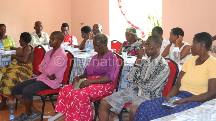 A cross-section of participants to the training