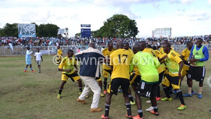 Kamuzu Barracks celebrate their victory
