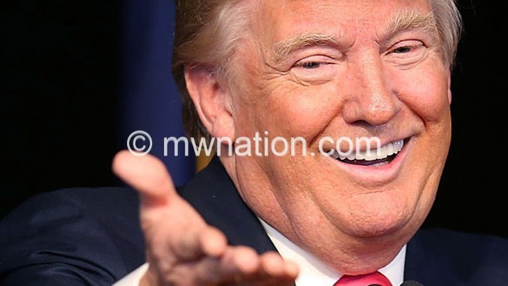 Trump celebrates after being elected US president