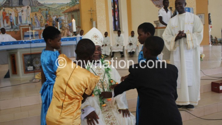 Catholic children celebrate Sunday of Epiphany