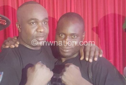 Gogodo R and his opponent | The Nation Online