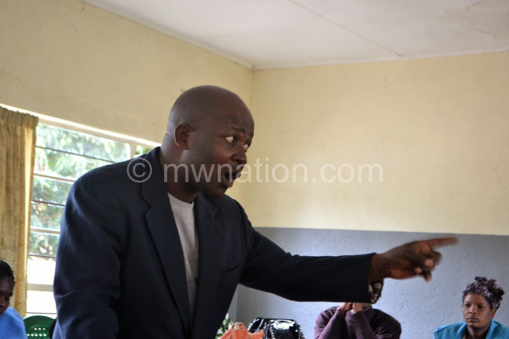Chimatiro stressing a point at the meeting | The Nation Online