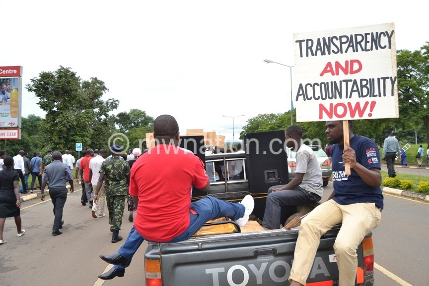 Civil Society Organizations demonstrate their anger in Lilongwe c Abel Ikiloni Mana 5 | The Nation Online