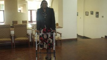 Standing strong  after car accident