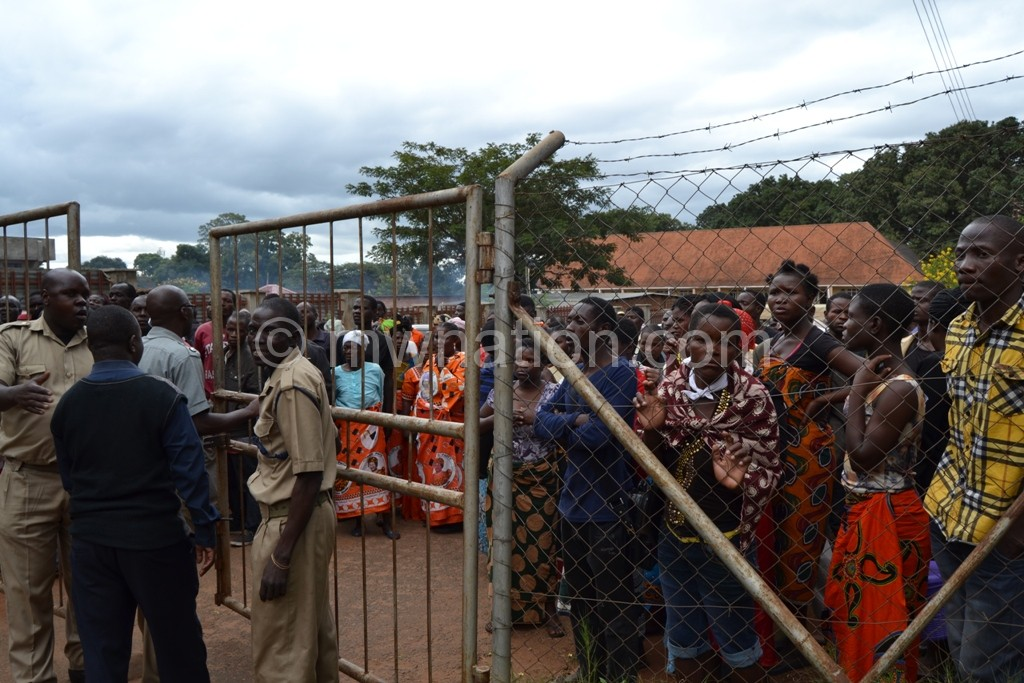 PP supporters outside the court fence | The Nation Online