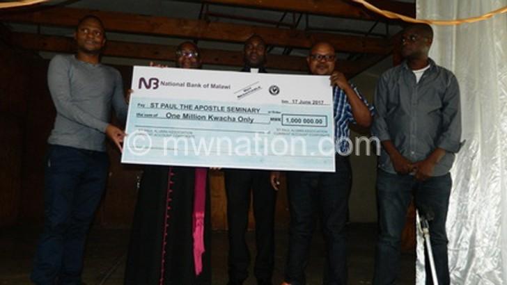 Alumni donate to Saint Paul Seminary in Mangochi