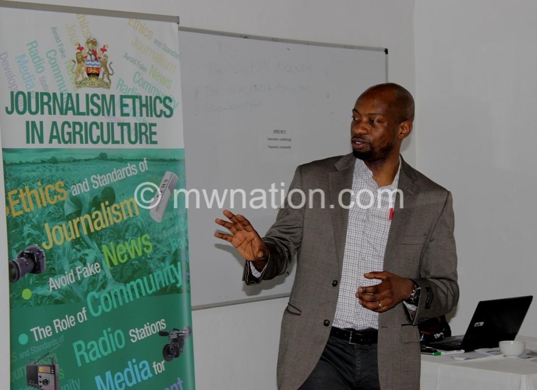 Dr Arthur Mabiso makes a presentation on National Agriculture Policy pic by Lisa Kadango Vintulla2 | The Nation Online