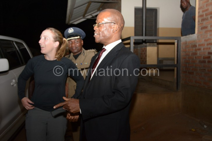 British High Commissioner Holly Tett and NPL DCEO at Limbe HC 1 | The Nation Online