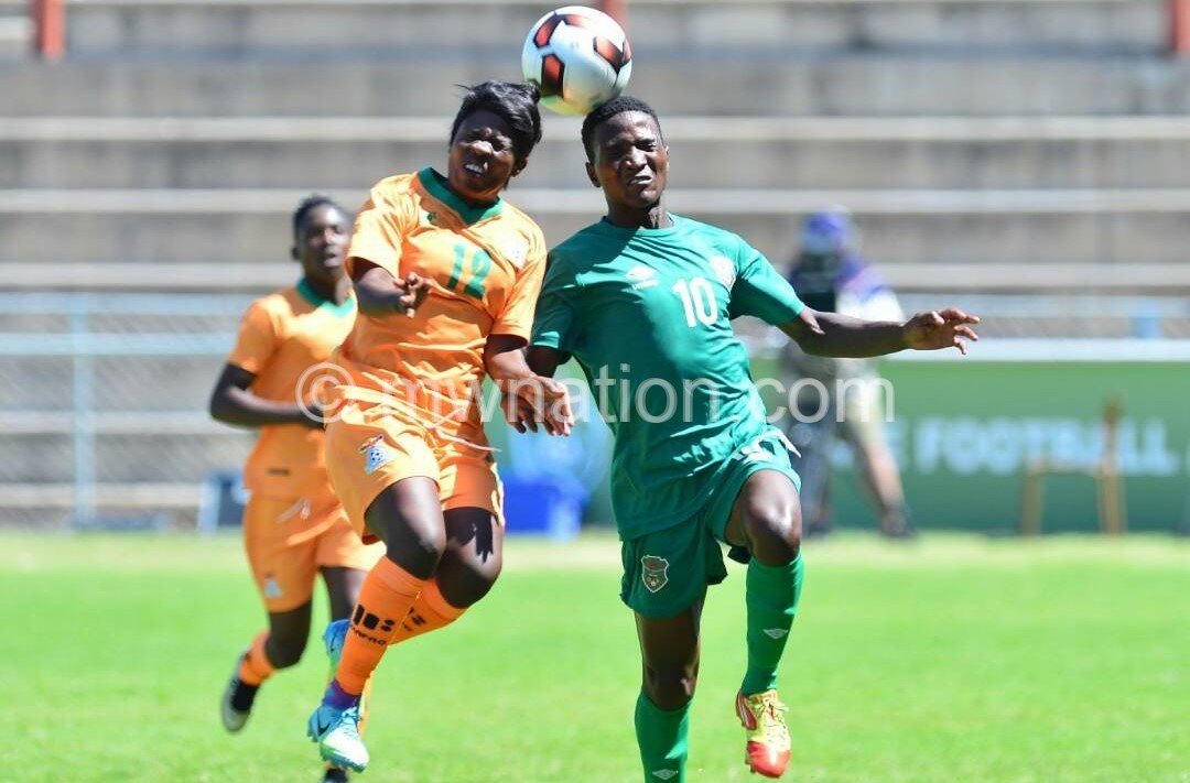 Malawi women football team in green against Zambia 1 | The Nation Online