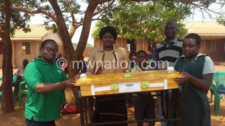 Chambu Primary gets desks from Print Care