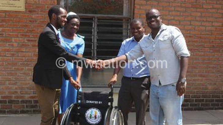 Machinga District Hospital has one wheelchair