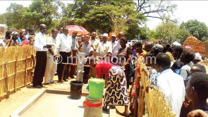 Mthundu villagers get first-ever borehole