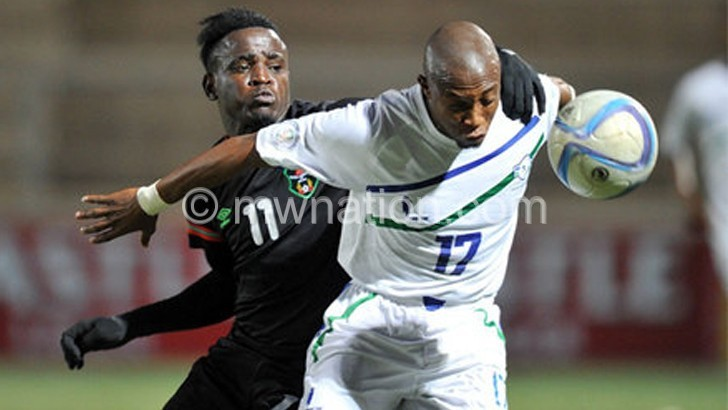 Lesotho match at Bingu Stadium