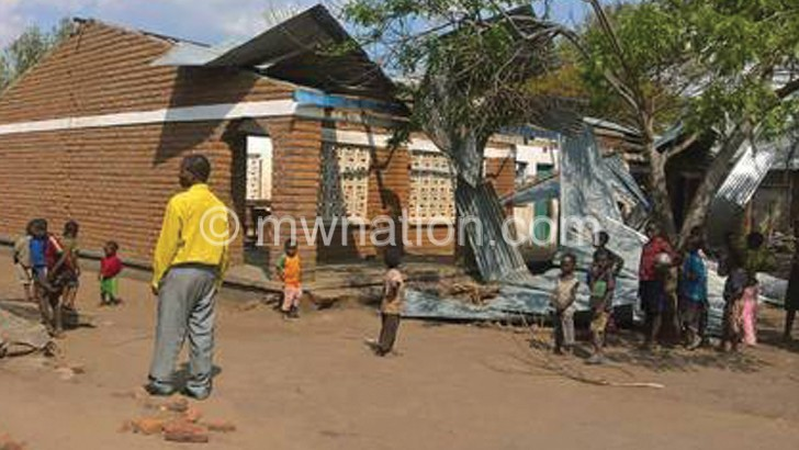 Strong winds displace 300 people in Phalombe