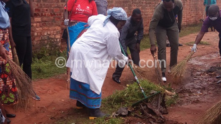 Mchinji launches mass cleaning exercise day