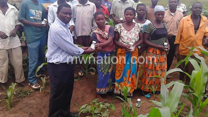 Card donates pesticides to farmers