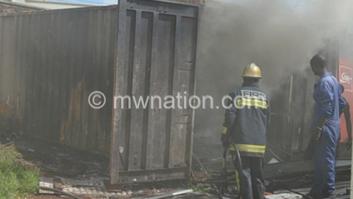 Fire guts People's storeroom in LL