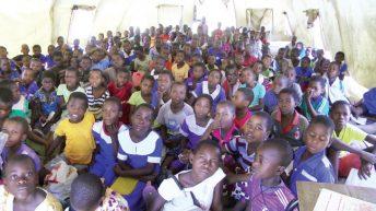 Pupils stuck in disaster ruins
