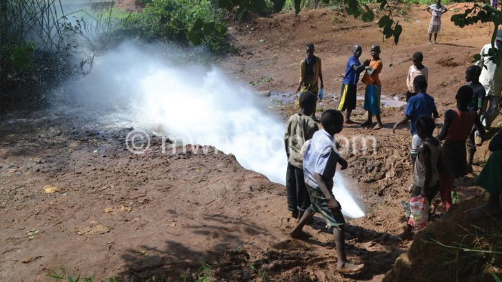 a burst water pipe | The Nation Online