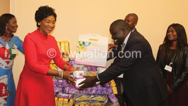 Blue Company donates items to Beam