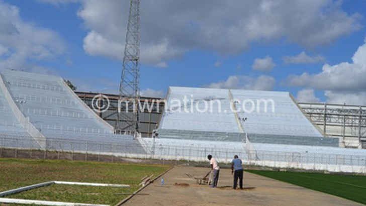 Kamuzu Stadium pitch extended