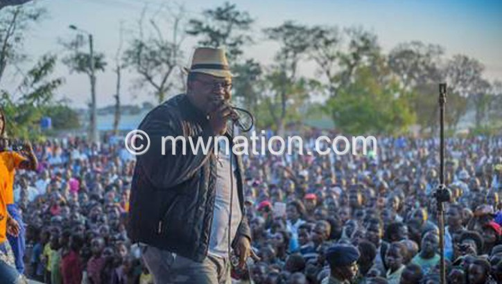 Lucius Banda on stage | The Nation Online