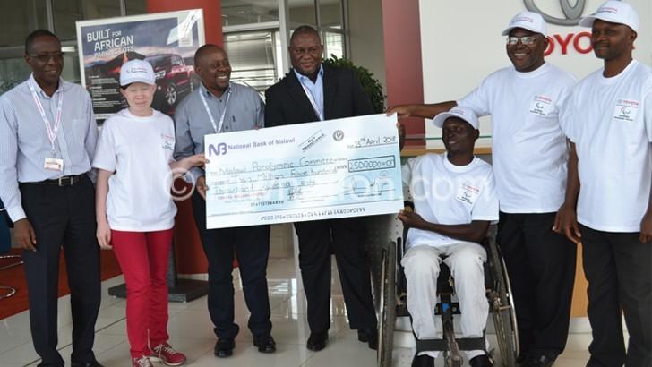 Toyota Malawi donates K2.5m to Paralympic
