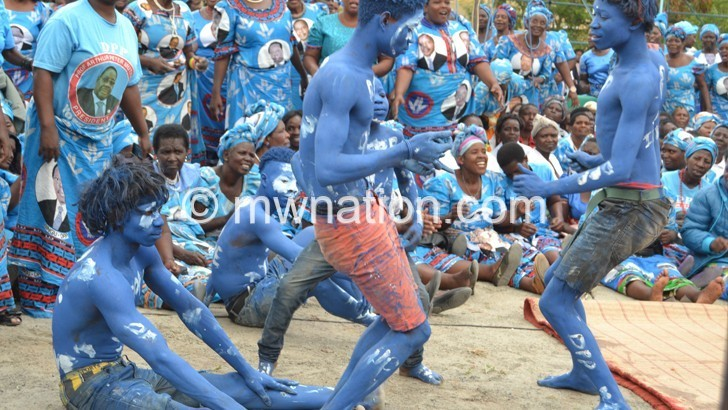 Chikwawa youth query  political body paintings