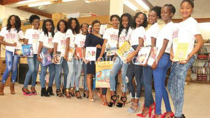 Miss Malawi contestants in camp